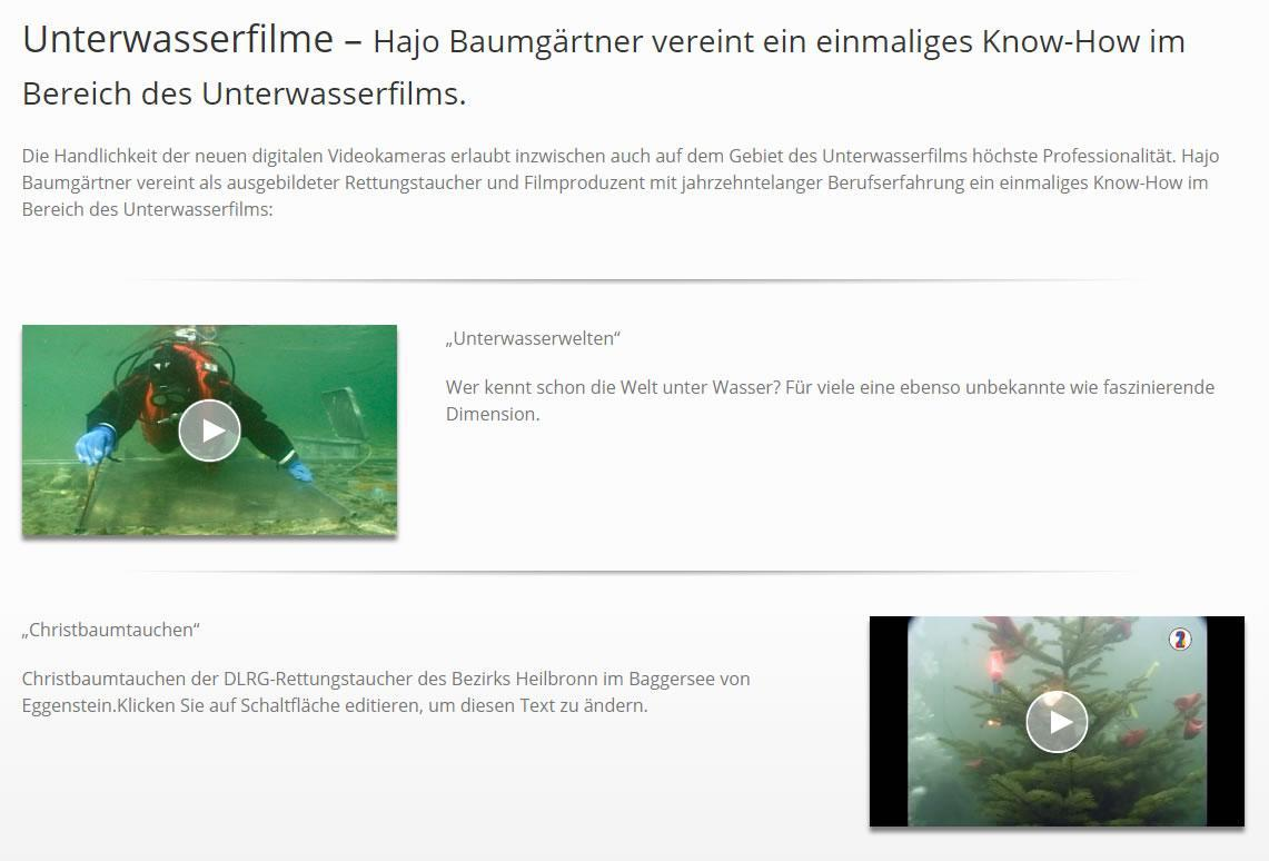 Unterwasserfilme in 71278 Hemmingen