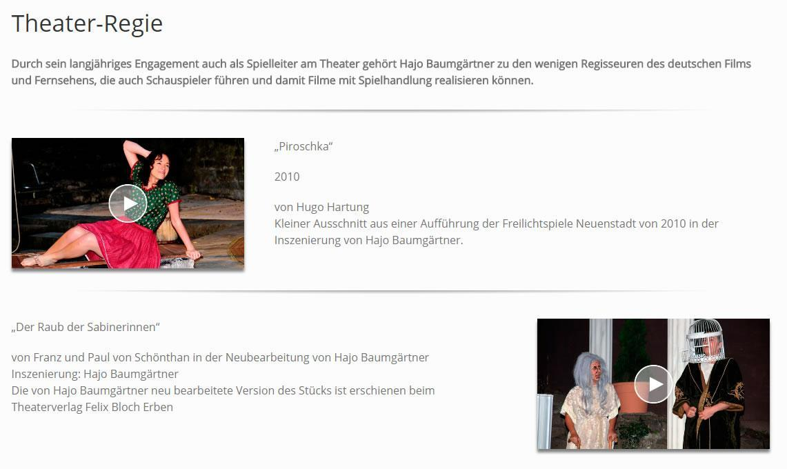 Theaterregie aus  Wallhausen