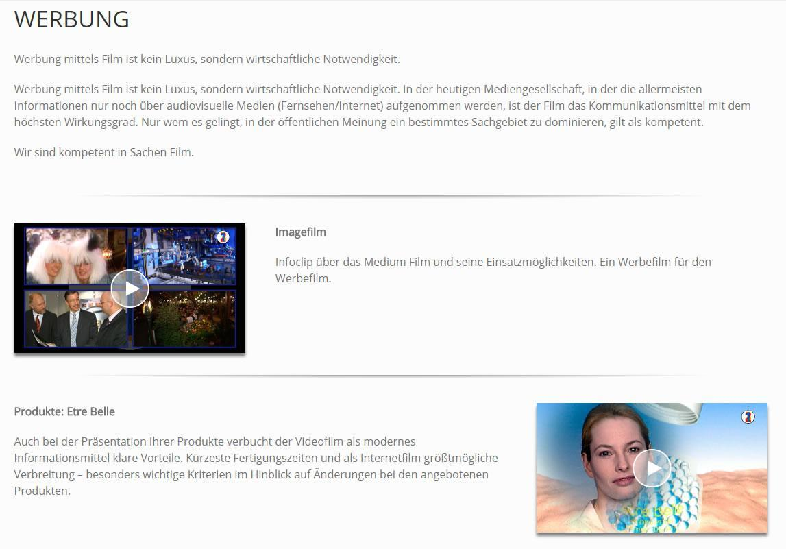 Marketingfilme, TV-Spots aus  Kleinrinderfeld
